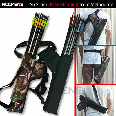 Archery Arrow Holders 3 Tube Bag Back Side Waist Quiver Camo Black Hunting Sport