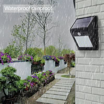 2/4PCS 20 LED Garden Solar Wall Lights PIR Motion Sensor Outdoor Security Lamp