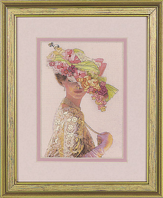 Dimensions - Mini Crewel Embroidery Kit - Genteel Lady - D06201