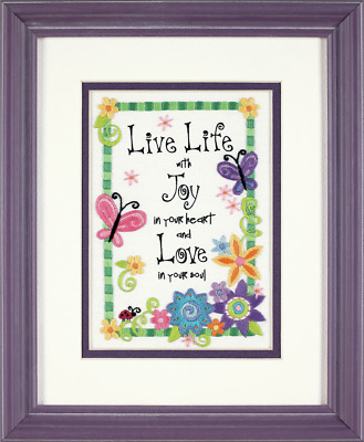 Dimensions - Mini Crewel Embroidery Kit - Live Life - D06231