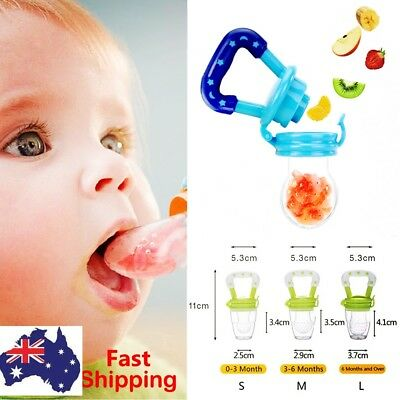 Baby Dummy Pacifier Fresh Fruit Food Feeder Feeding Nibbles Weaning Teething AU