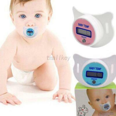 AU Infant Kids Baby LED Pacifier Thermometer Temperature Health Safety Monitor