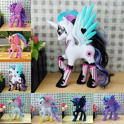 Lovely My Little Horse Princess Celestia Toys Dolls Luna Moon Kid Christmas Gift