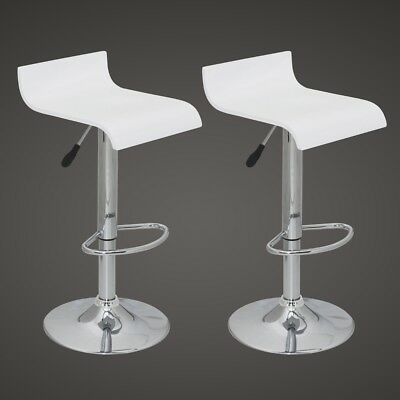 New Set of two bar stools white wood bar chairs dining stool bar furniture