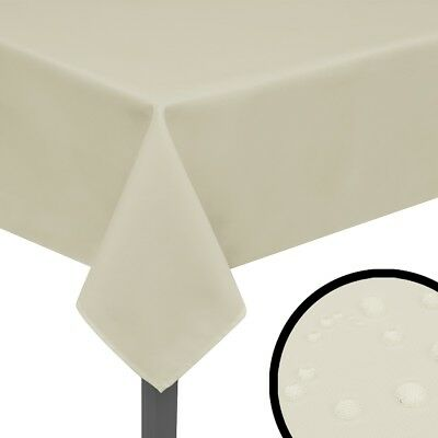 5 pcs Tablecovers Tablecloths Cream 250x130 cm Party Wedding Reception Tableware