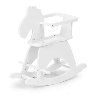 CHILDWOOD Kids Children's Rocking Horse Toy Relaxing Playing Fun White CWRHW