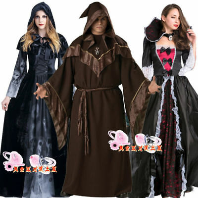 Witch Gowns Cosplay Vampire Magician Witch skirt Dress Up Performances In Stock