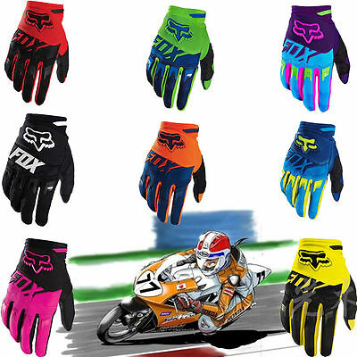 MTB Cycling Bicycle Bike Motorcycle Sports Soft Offroad Full Finger FOX Gloves