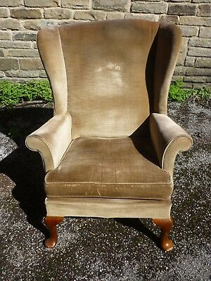 A retro  1950 / 1960 Parker Knoll wing arm chairs, 4 restoration.