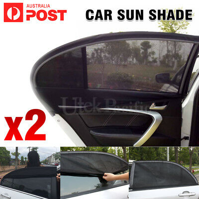 2X Universal Sun Shade Rear Side Curtain Car Window Socks Baby Kid Protection