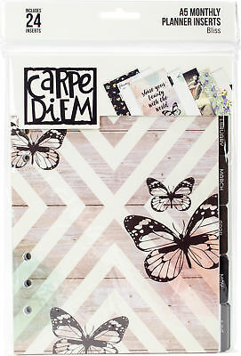 Simple Stories Carpe Diem Bliss Double-Sided A5 Planner Inserts-Monthly, Undated
