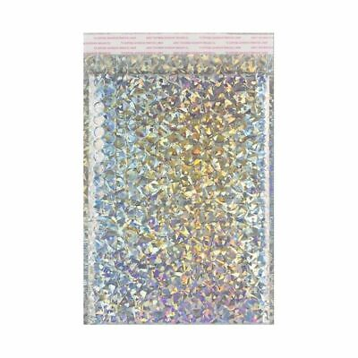 Silver Strong Metallic Holographic Bubble Wrap Padded Mailing Bags Size/Qty