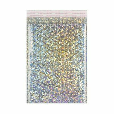 Strong Metallic Holographic Bubble Wrap Padded Mailing Envelopes Bags Size/Qty