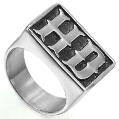 Size 7-15 Stainless Steel Biker Motorcycle Ring Cocktail Party MC Signet Retro