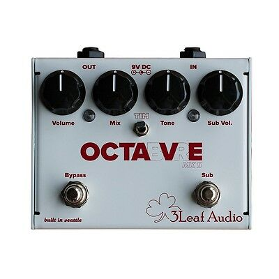 3 Leaf Audio Octabvre MKII Dual Mode Octaver Bass Guitar Effects Pedal