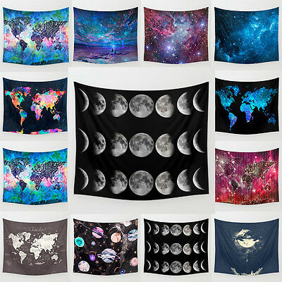 AU Galaxy Hippie Hanging Polyester Retro Wall Tapestry Bedspread Room Home Decor