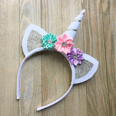 Fashion Kids Unicorn Horn Hair Hoop Headband Headdress Headband Halloween