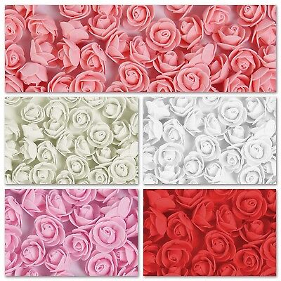 Foam Mini Roses WHOLESALE Head Buds Small Flowers Wedding Home Party X100