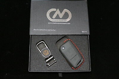 VW Golf MK7 Genuine Hand Made Leather Key Case Cover KR0019