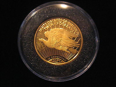 "Mds Usa Medaille Twenty Dollars 1933 Copy Pp / Proof ""eagle - Liberty"", Gold"