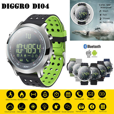 Diggro DI04 IP68 Smart Watch Fitness Orologio polso Contapassi Call SMS Reminder