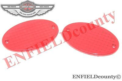 New Plastic Made Oval Type Red Indicator Lens Set Of 2 Units @aus