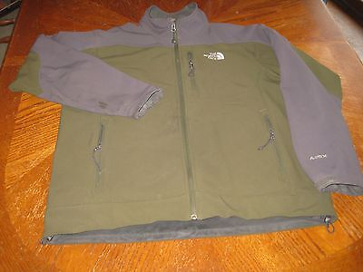 The North Face Full Zip Jacket Apex Soft Shell Forest Green Men's Size Medium M