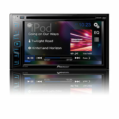 """NEW Pioneer Double 2 Din AVH-190DVD DVD/MP3/CD Player 6.2"""" Touchscreen AUX USB"""