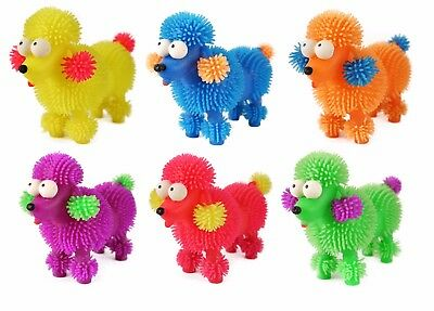 Light Up Flashing Poodle Dog Puffer Tactile Sensory Fidget Stress Relief ADHD