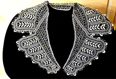 """Russian Vologda lace collar 24""""long  from 1960"""