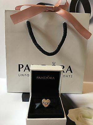 New Genuine Pandora Silver Mother Mum Heart Charm with Pouch 791881PCZ RRP £35