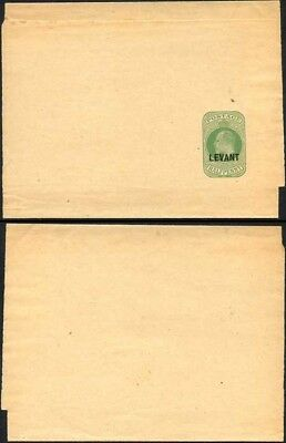 British Levant KEVII O/P on 1/2d Green Newspaper Wrapper Mint