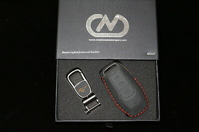 Ford Mustang Smart Key Genuine Hand Made Leather Key Case Cover KR0009