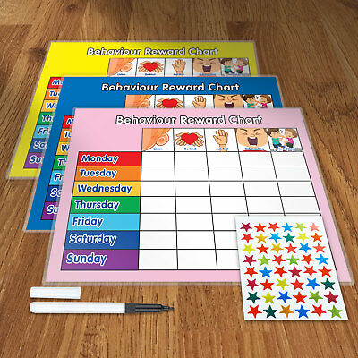 REWARD CHART BEHAVIOUR  with FREE PEN AND STAR STICKERS