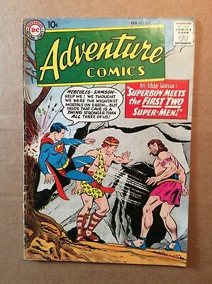 ADVENTURE COMICS #257 (1959) DC Silver Age Superboy Aquaman Green Arrow; VG-