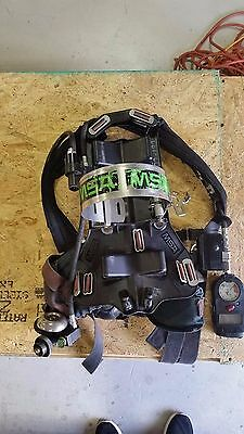 MSA SCBA Custom 4500 Ultralite MMR 2000 Harness 10024153 & Regulator 10022318
