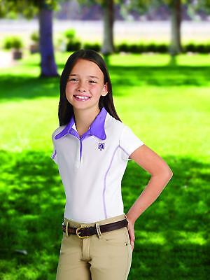 Romfh Competitor SS Kids Show Shirt - White/Amethyst - MD