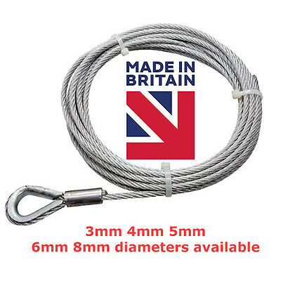 Galvanised Steel Wire Rope Cable Slings Assembly with Hard Eye Thimble Eyelet