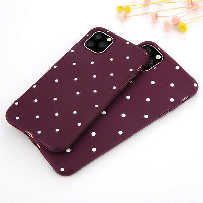 Ultra Thin Polka Dot Pattern Soft TPU Back Case Cover for iPhone X XS MAX 7 Plus