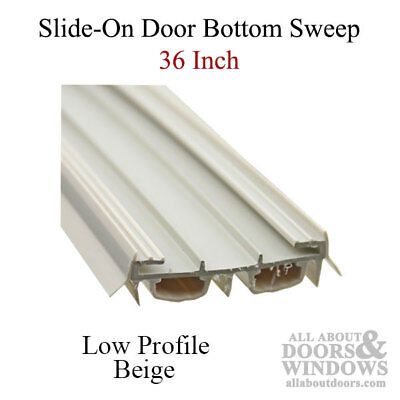 Slide-On 36 Inch Door Sweep/Door Bottom