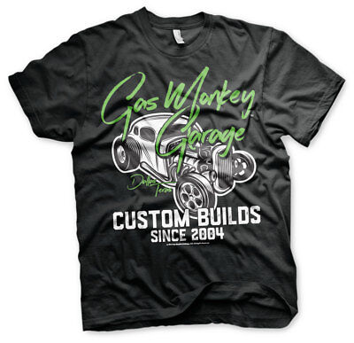 Gas Monkey Garage Neon Custom Builds Since 2004 Fast N Loud Männer Men T-Shirt