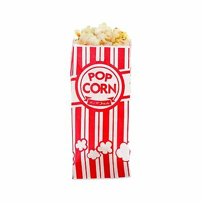 Carnival King Paper Popcorn Bags 1 oz Red & White 100 Piece