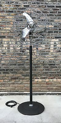 Vtg Emerson K60 Industrial Electric Floor Standing Pedestal Fan Deco Steampunk