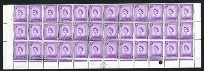 IOM XM3 3d Deep Lilac Crowns Wmk Chalky Paper Marginal Block 36 Bottom 3 Rows