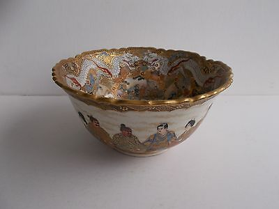 Antique Original Japanese Satsuma Bowl-Signed Meiji Period-Excellent Condition