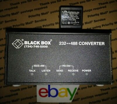 NEW ! Black Box Model-IC026A RS-232 to IEEE-488 Interface Converter FREE SHIP