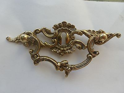New French Vintage Style Brass Dresser Pull Key Hole Handle