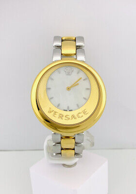 Versace Women's VAQ060016 PERPETUELLE MOP Dial Two-Tone Stainless Steel Watch