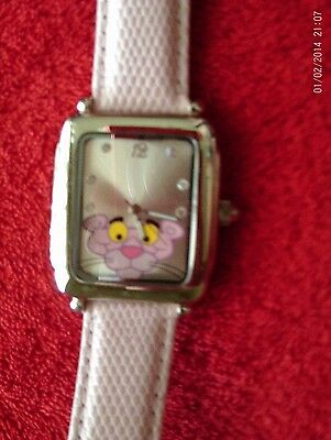Pink Panther Authentic Original Genuine Leather Women's Wristwatch