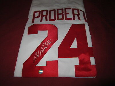 Bob Probert Detroit Red Wings Signed Jersey very rare COA